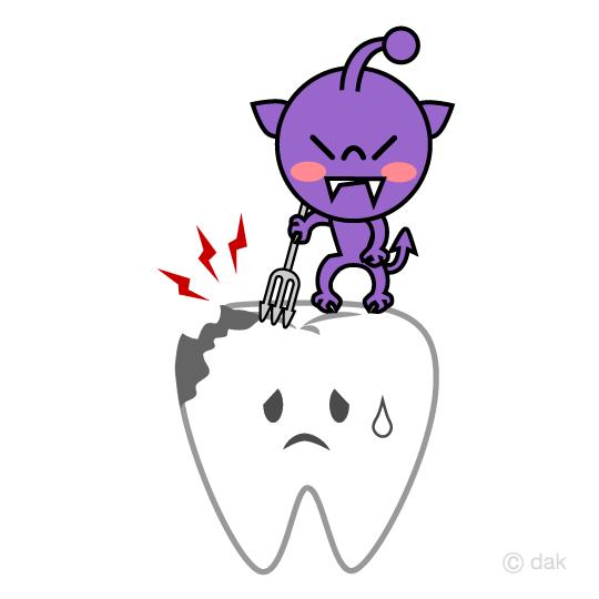 虫歯菌キャラクターの無料イラスト素材イラストイメージ