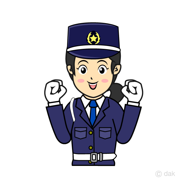 Women guards to work with a smile clip art