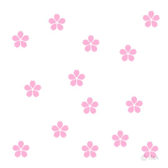 散る桜の花マークの無料イラスト素材イラストイメージ