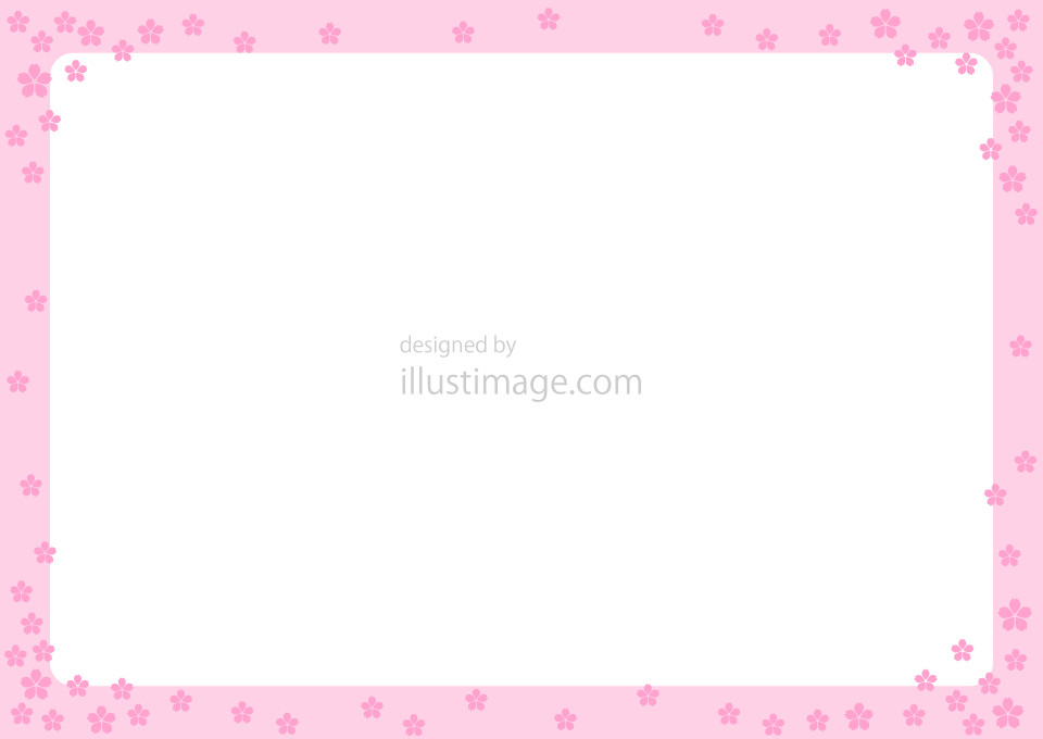 Cherry blossom frame illustration