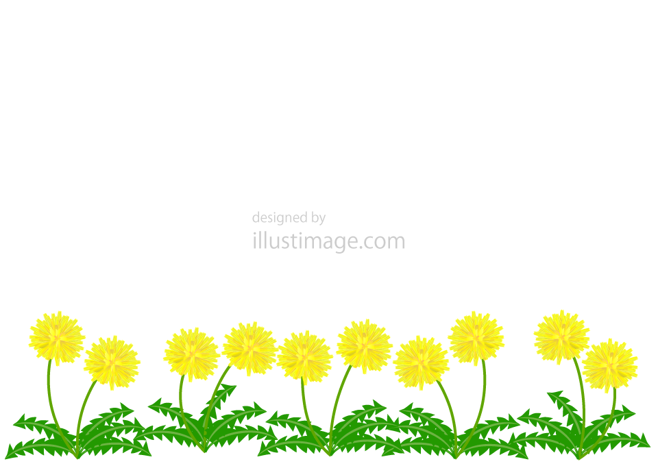 Dandelion frame illustration