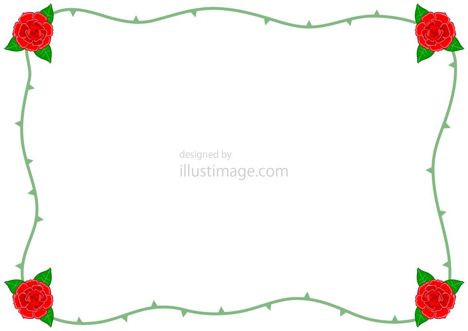 バラの枠の無料イラスト素材 イラストイメージ
