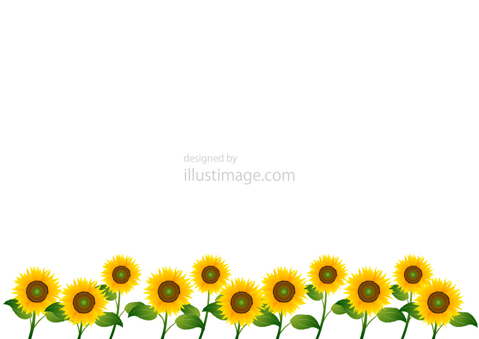 Sunflower frame illustration