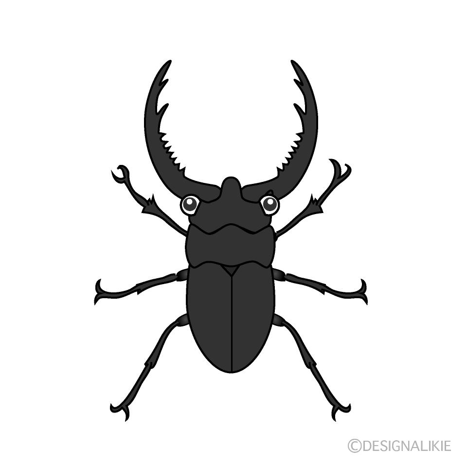 かわいいクワガタ虫の無料イラスト素材イラストイメージ