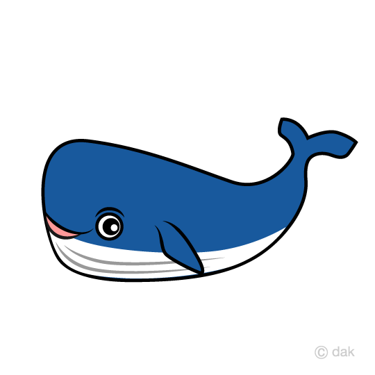 Whale character clip art
