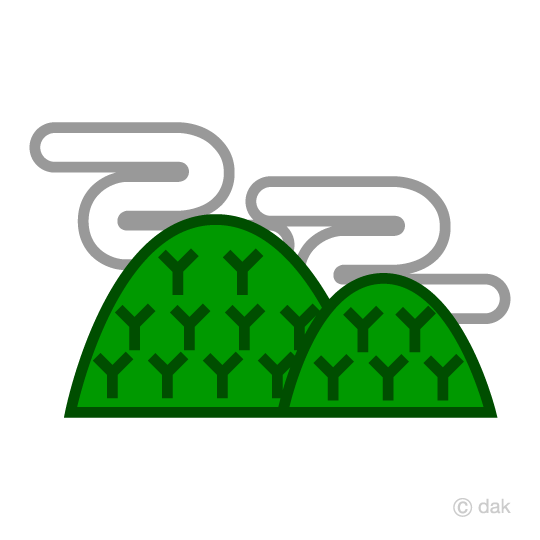 Mountain and cloud mark
