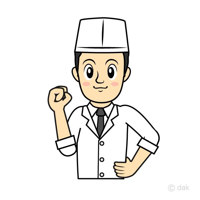 寿司職人和食料理人の無料イラスト素材イラストイメージ