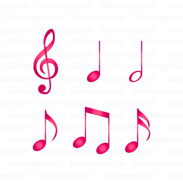 音符マークの無料イラスト素材イラストイメージ
