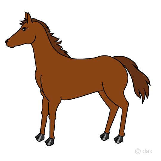 馬の無料イラスト素材イラストイメージ
