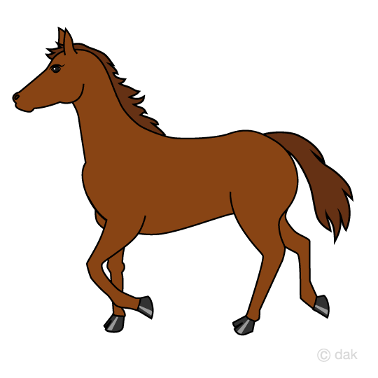 Walking horse clip art