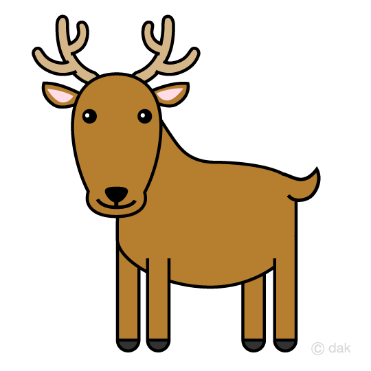 Cute deer clip art