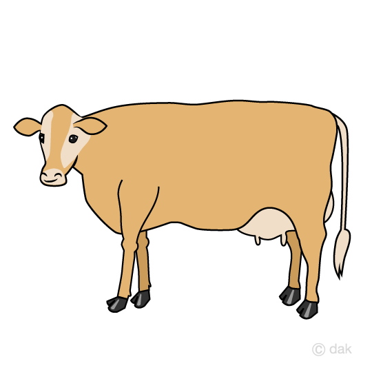Red cow clip art