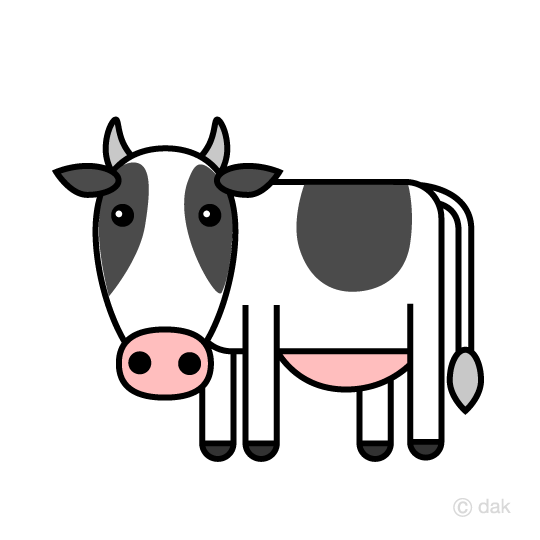 Cute cow clip art
