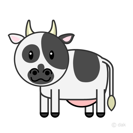 Cute cow character clip art