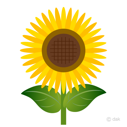 One wheel sun flower clip art