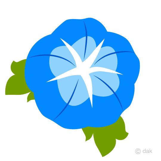 Simple morning glory flower clip art