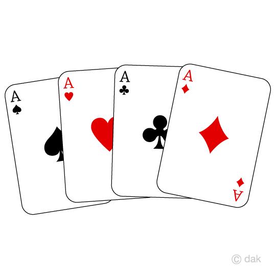 エースのトランプの無料イラスト素材イラストイメージ