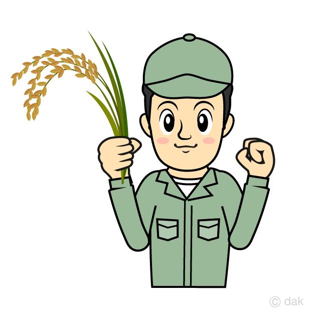 米農家の男性の無料イラスト素材イラストイメージ