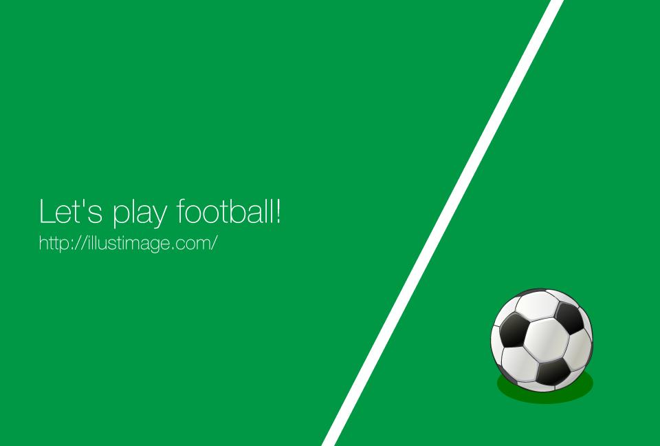 白いラインとサッカーボールの無料イラスト素材イラストイメージ