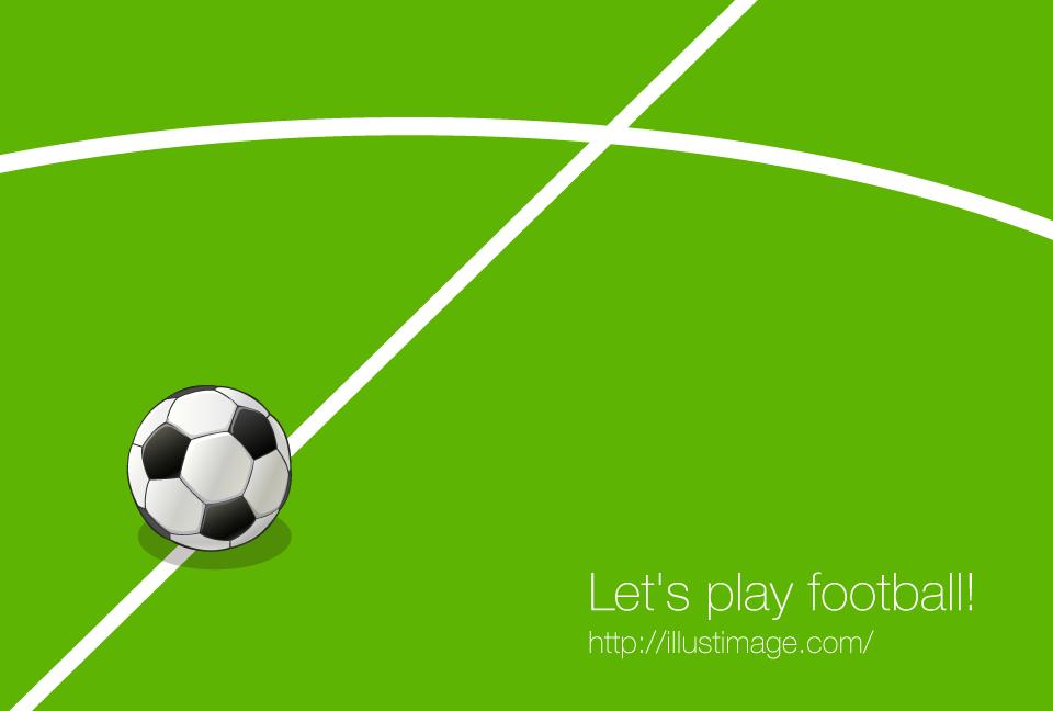 キックオフとサッカーボールの無料イラスト素材イラストイメージ