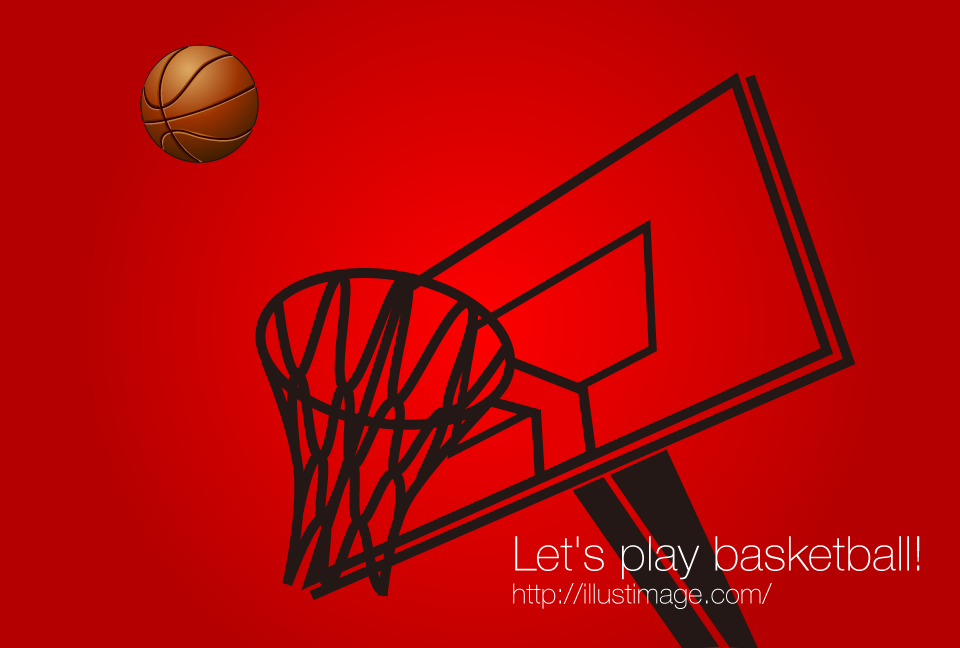 Basketball and goal graphic design
