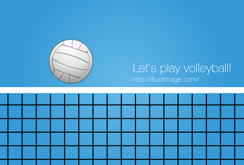 Volleyball net graphic design