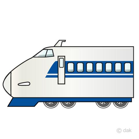 ひかり新幹線100系の無料イラスト素材イラストイメージ
