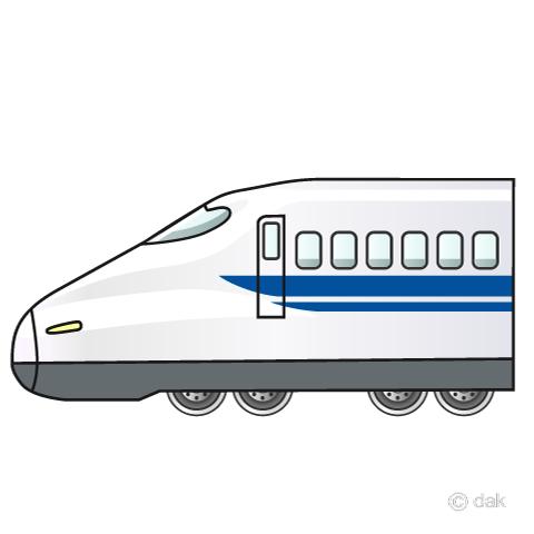 のぞみ新幹線700系の無料イラスト素材イラストイメージ