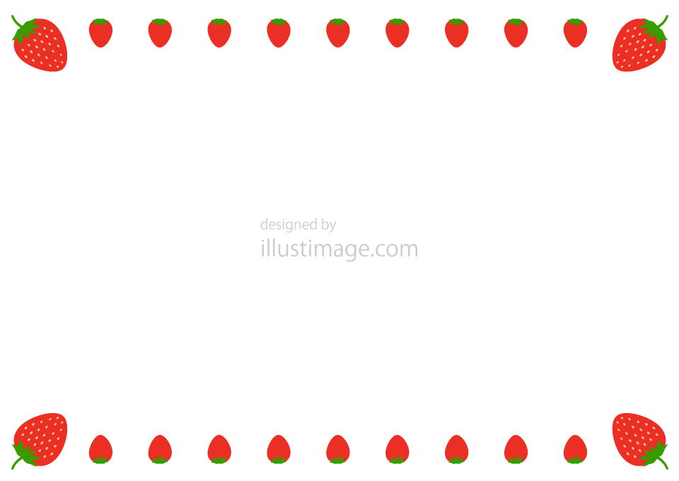 イチゴ枠の無料イラスト素材イラストイメージ