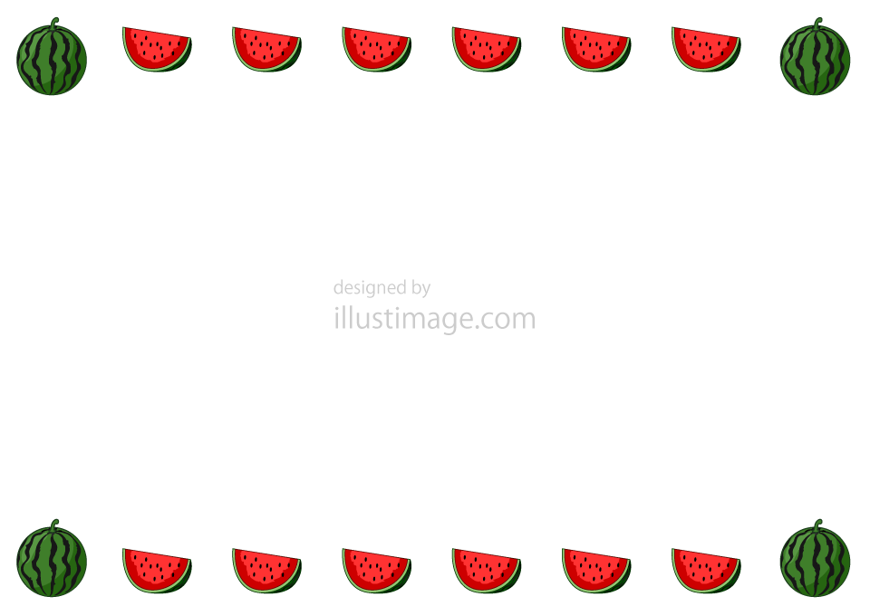 Watermelon frame illustration