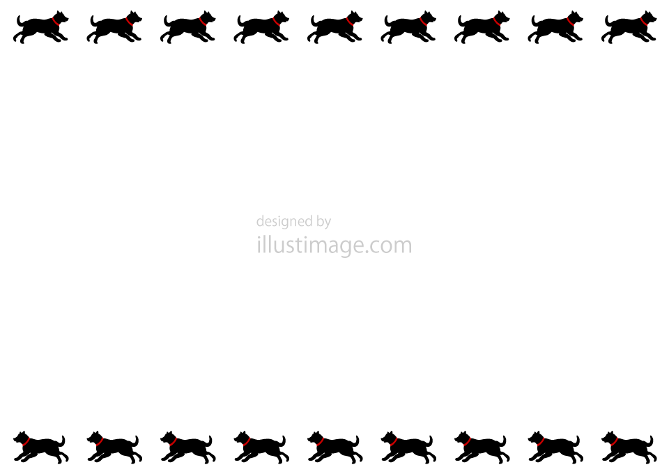 Dog silhouette frame illustration