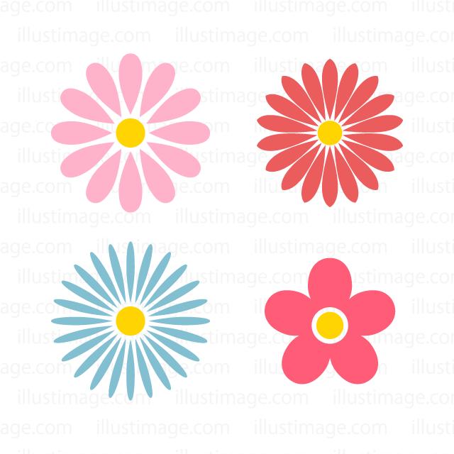 花マークの無料イラスト素材イラストイメージ