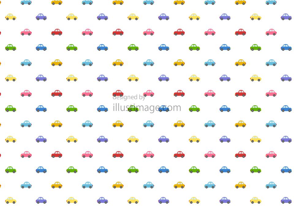可愛い車の壁紙の無料イラスト素材イラストイメージ