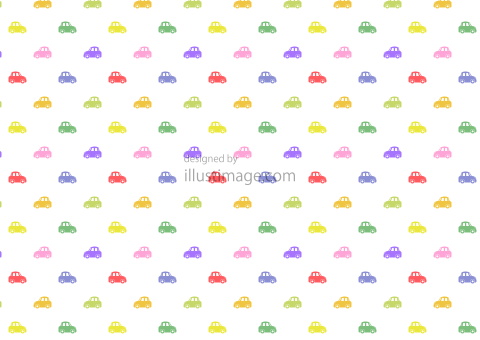 Colorful car pattern wallpaper illustration