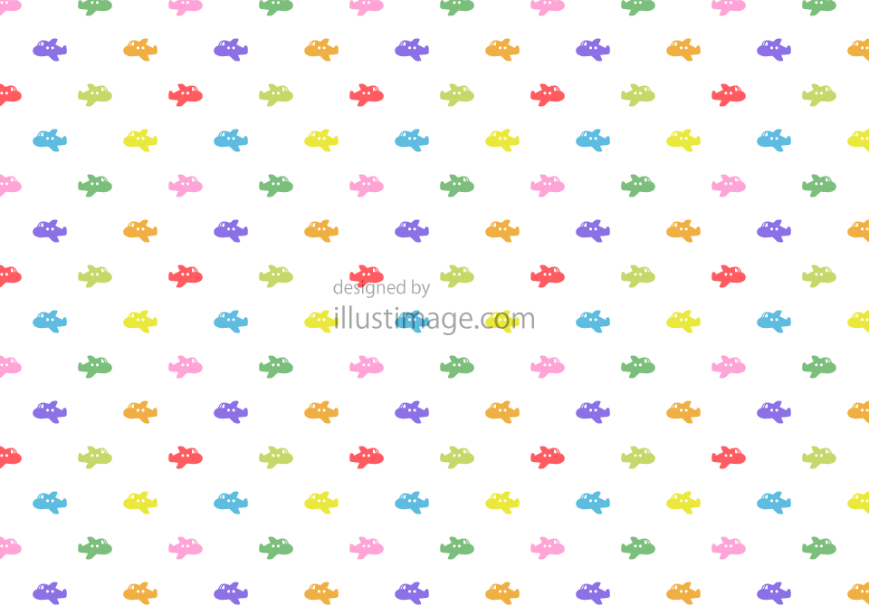 Colorful train pattern wallpaper illustration