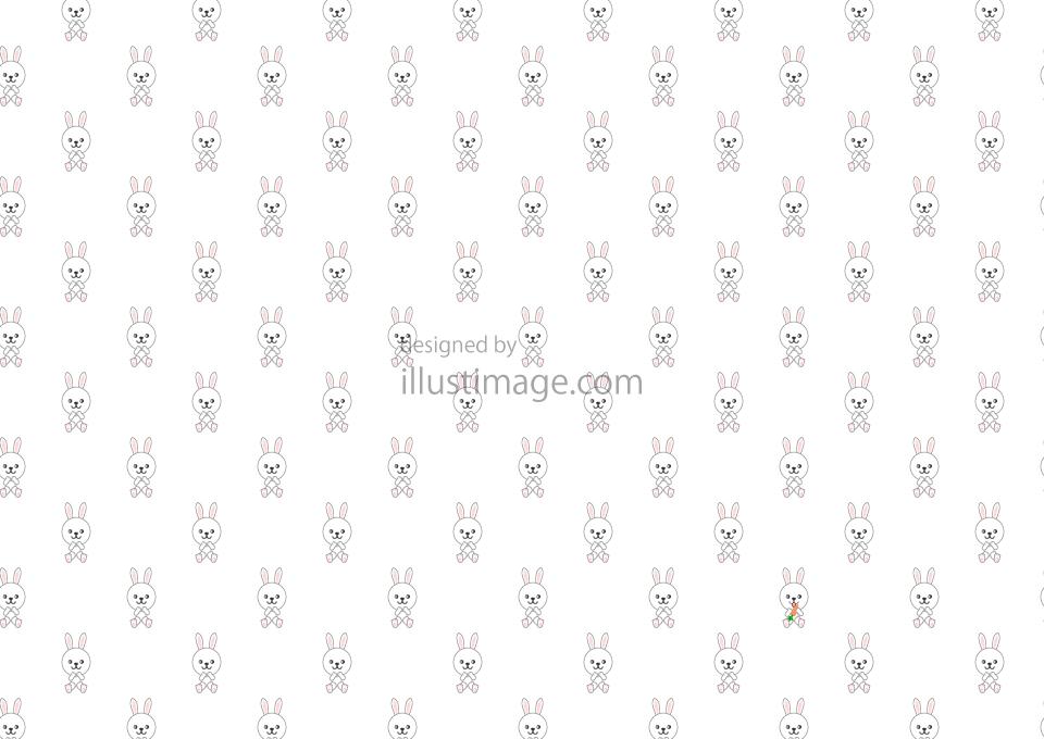 可愛いウサギパターンの壁紙の無料イラスト素材 イラストイメージ