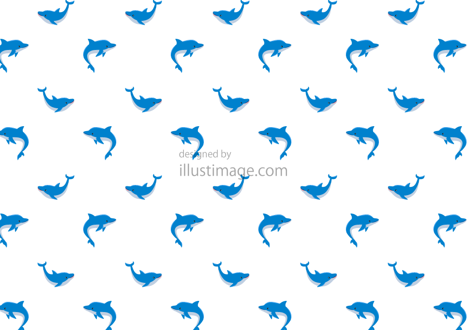 Cute dolphin Dog Pattern Wallpaper