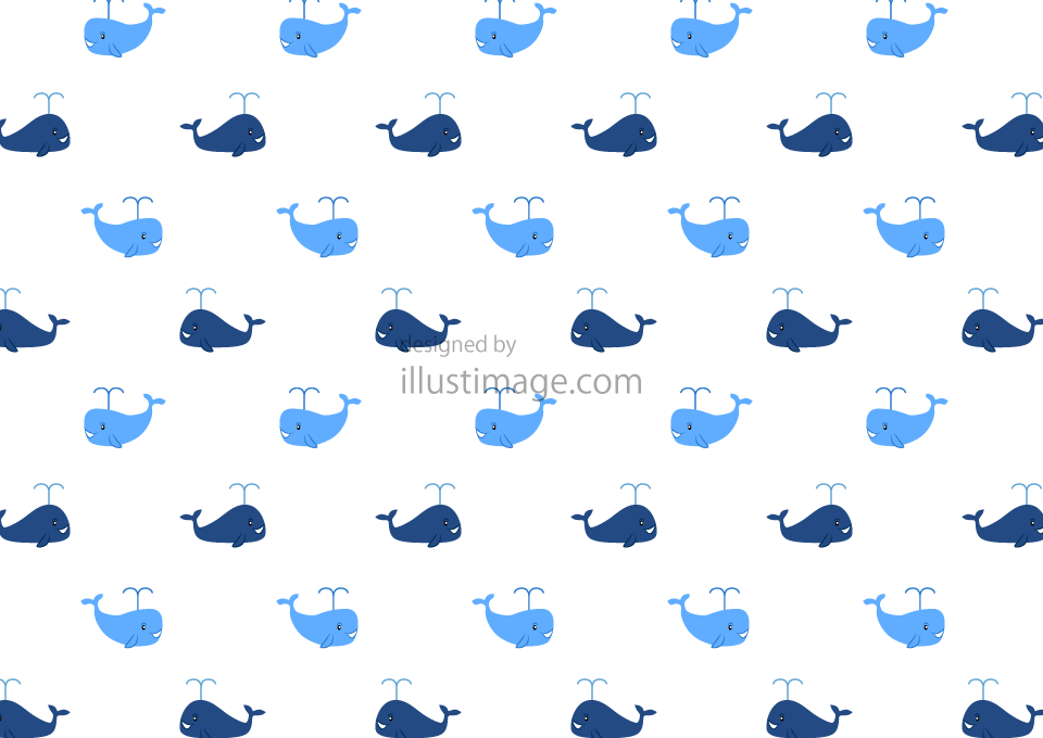 Cute Whale Pattern Wallpaper