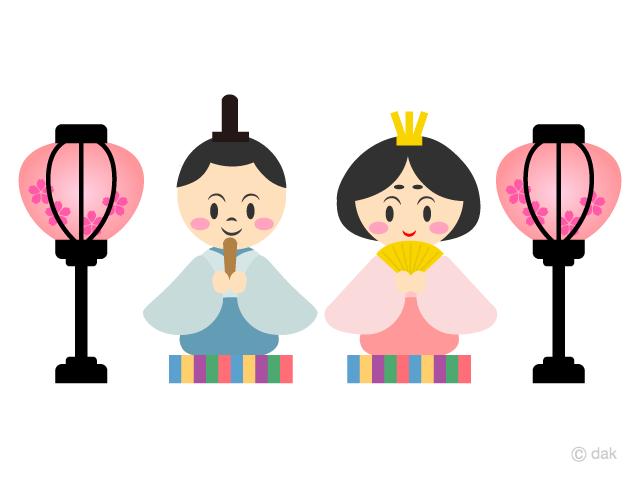 ひな祭りの雛人形の無料イラスト素材イラストイメージ