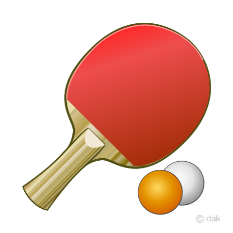 on ping pong racket