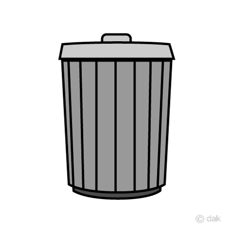 Simple trash can icon