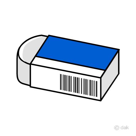 シンプルな消しゴムアイコンの無料イラスト素材イラストイメージ