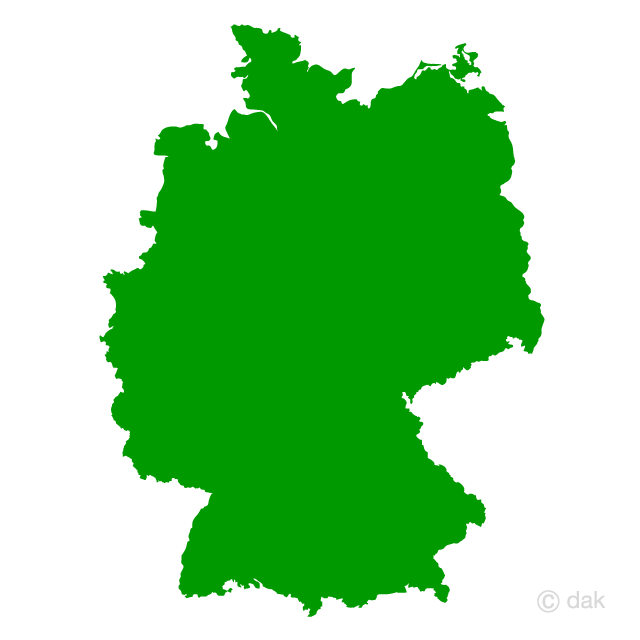German map silhouette