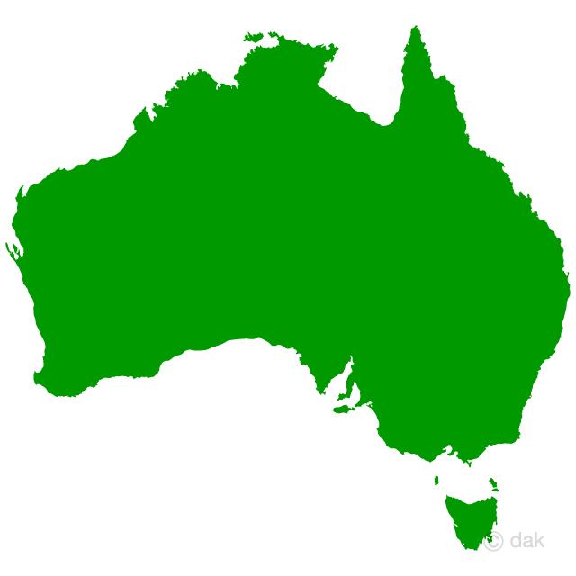 オーストラリアの地図シルエット...