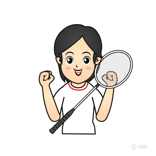 Women's badminton player
