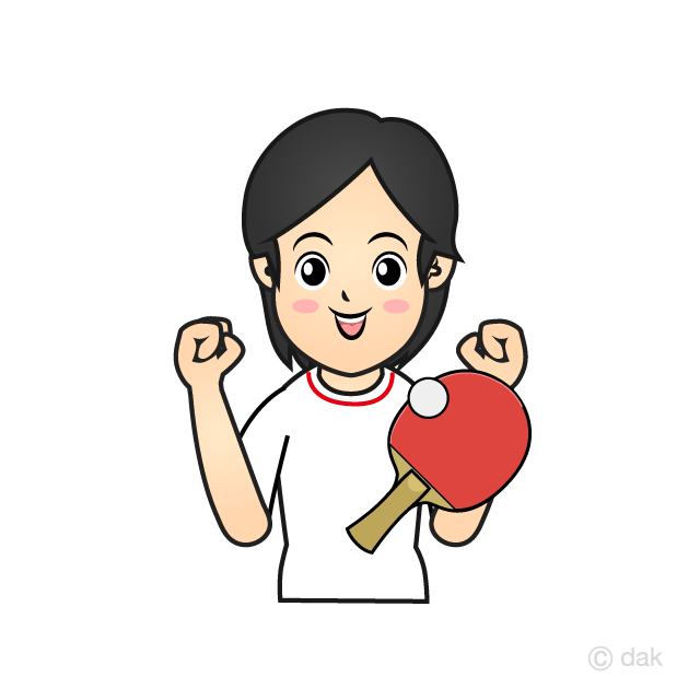 Women's table tennis player