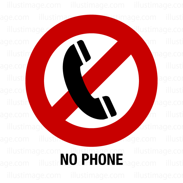 Telephone banning sign