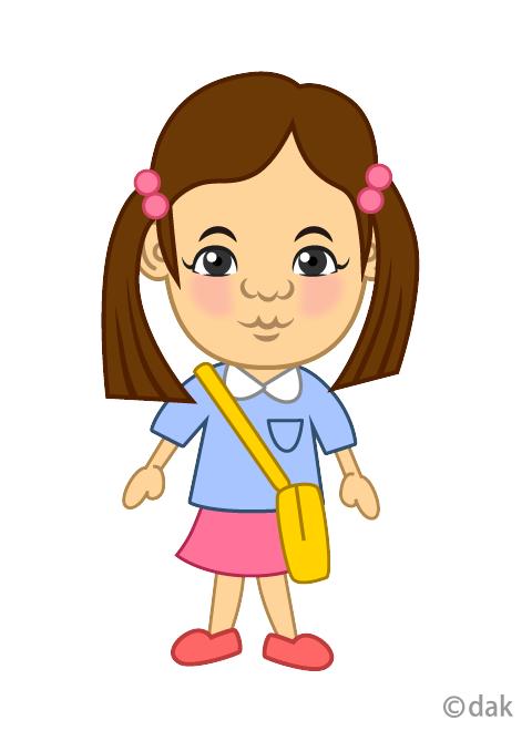幼稚園の女の子の無料イラスト素材イラストイメージ