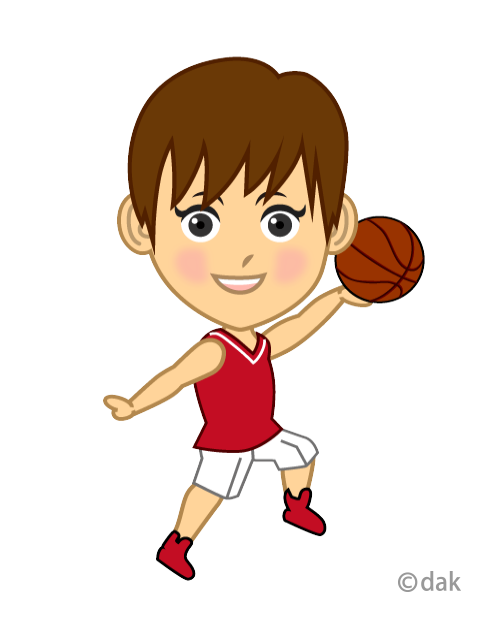 Women's basketball player character to shoot
