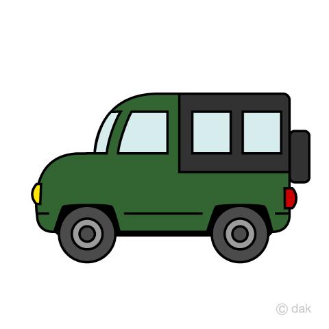 かわいいジープの車の無料イラスト素材イラストイメージ